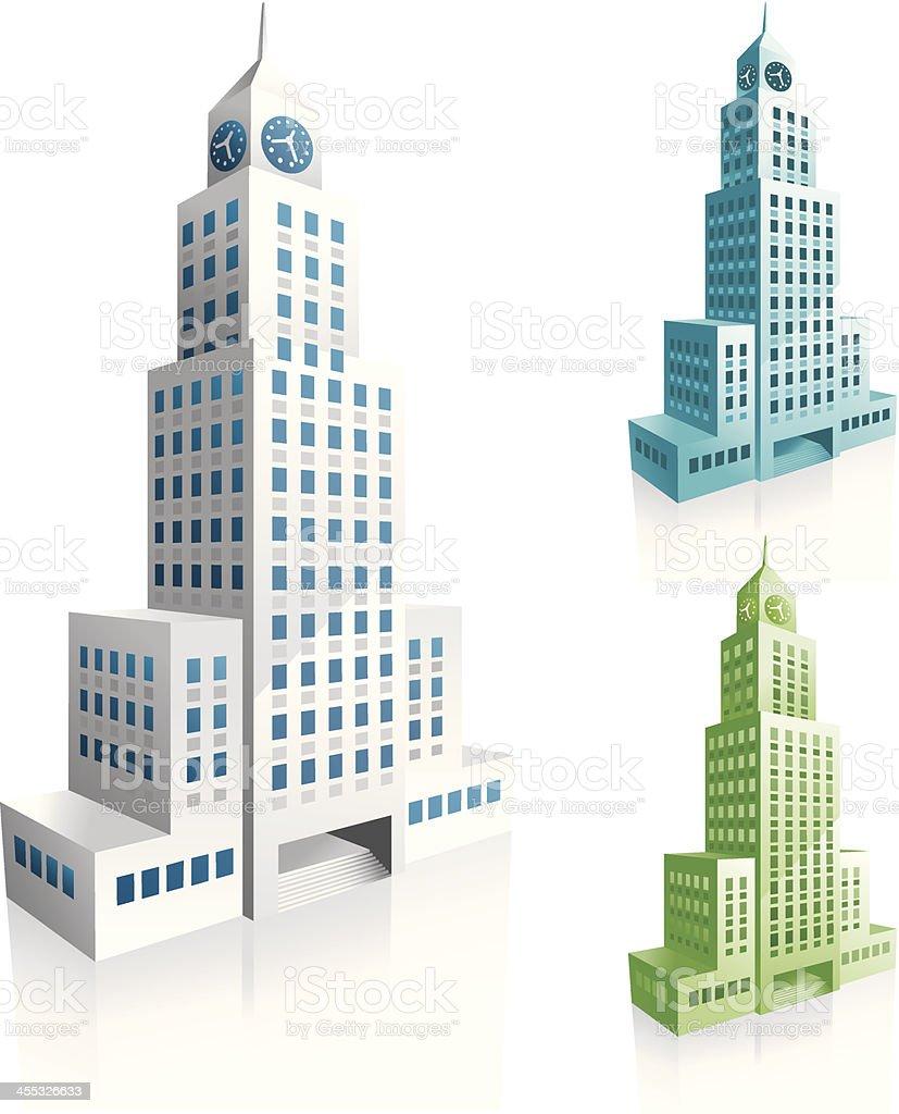 office block vector art illustration