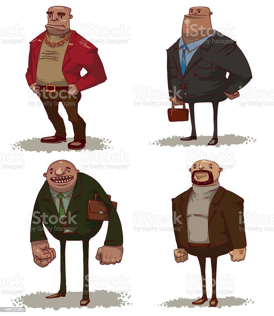 Office Bosses set vector art illustration