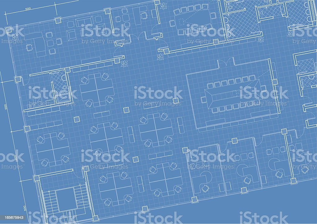 office building architectural plan royalty-free stock vector art