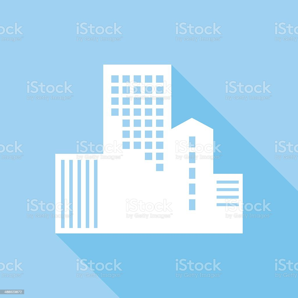 Office Building Icon vector art illustration