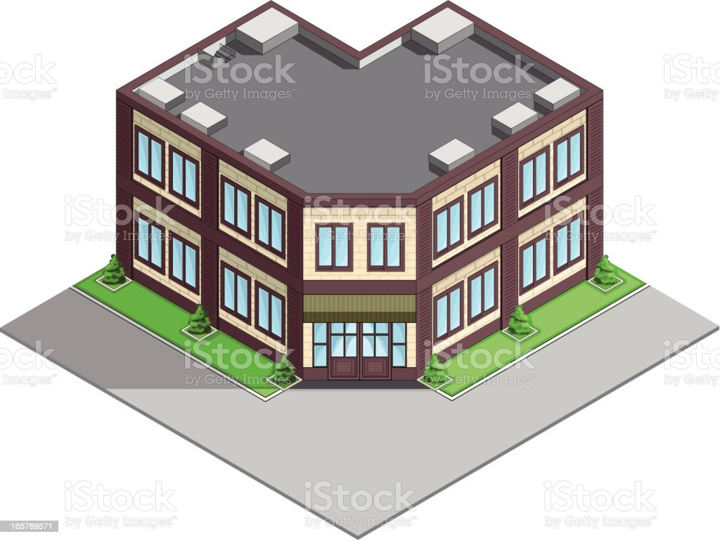 Office building isometric royalty-free stock vector art