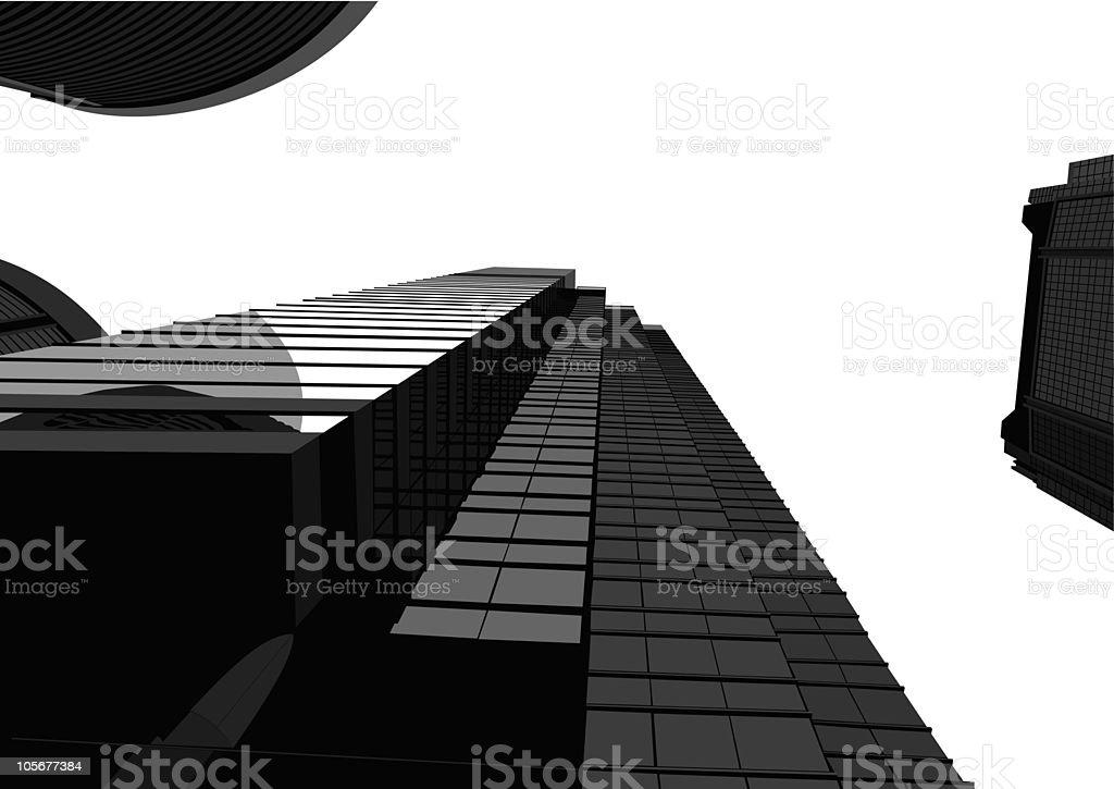 office building of city,Hongkong vector art illustration