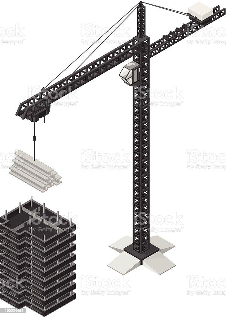 Office building Under Construction vector art illustration