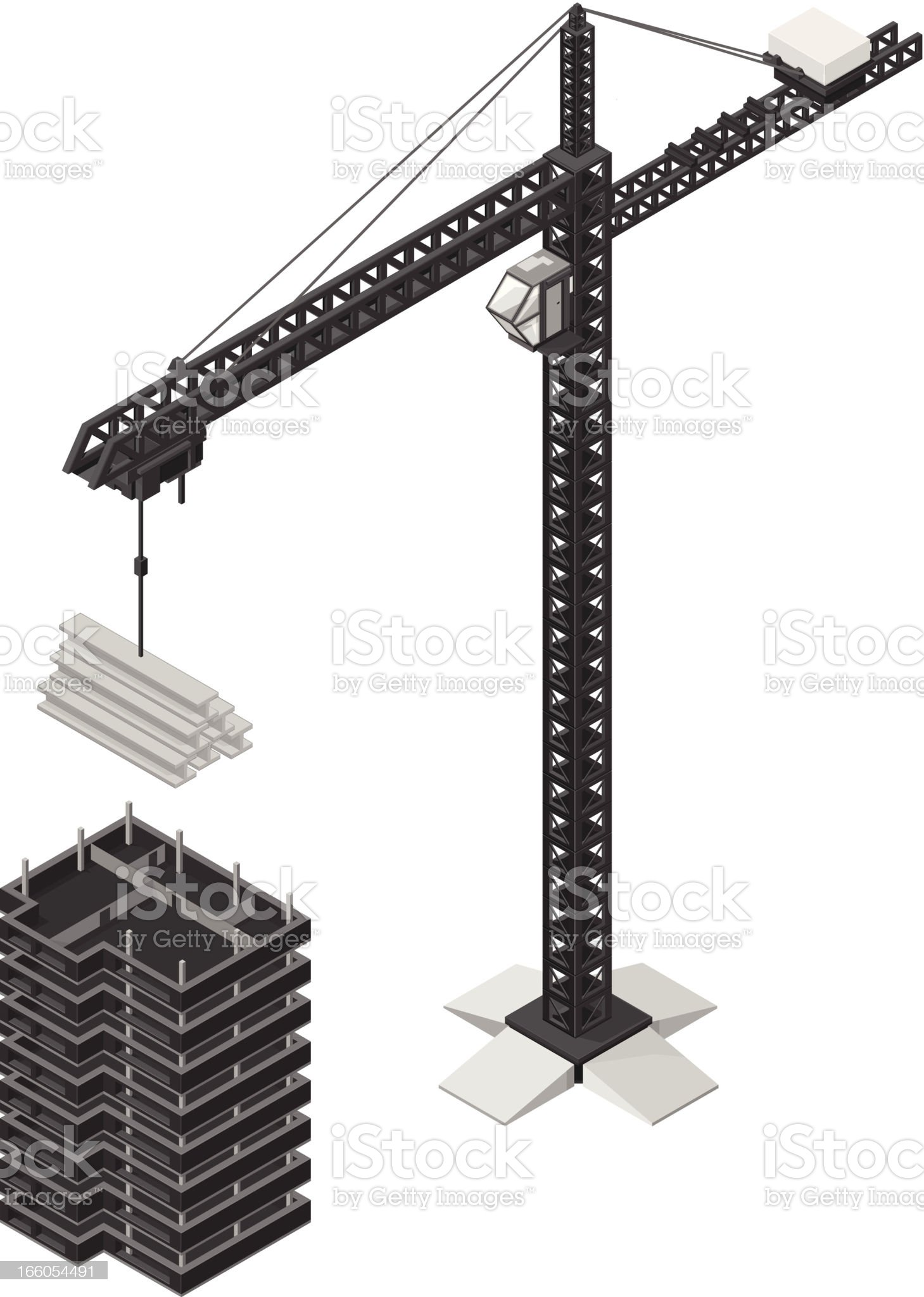 Office building Under Construction royalty-free stock vector art