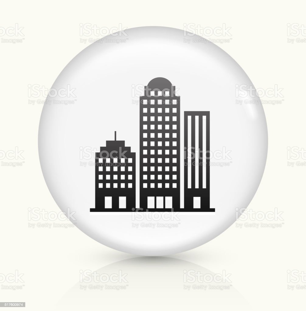Office Buildings icon on white round vector button vector art illustration