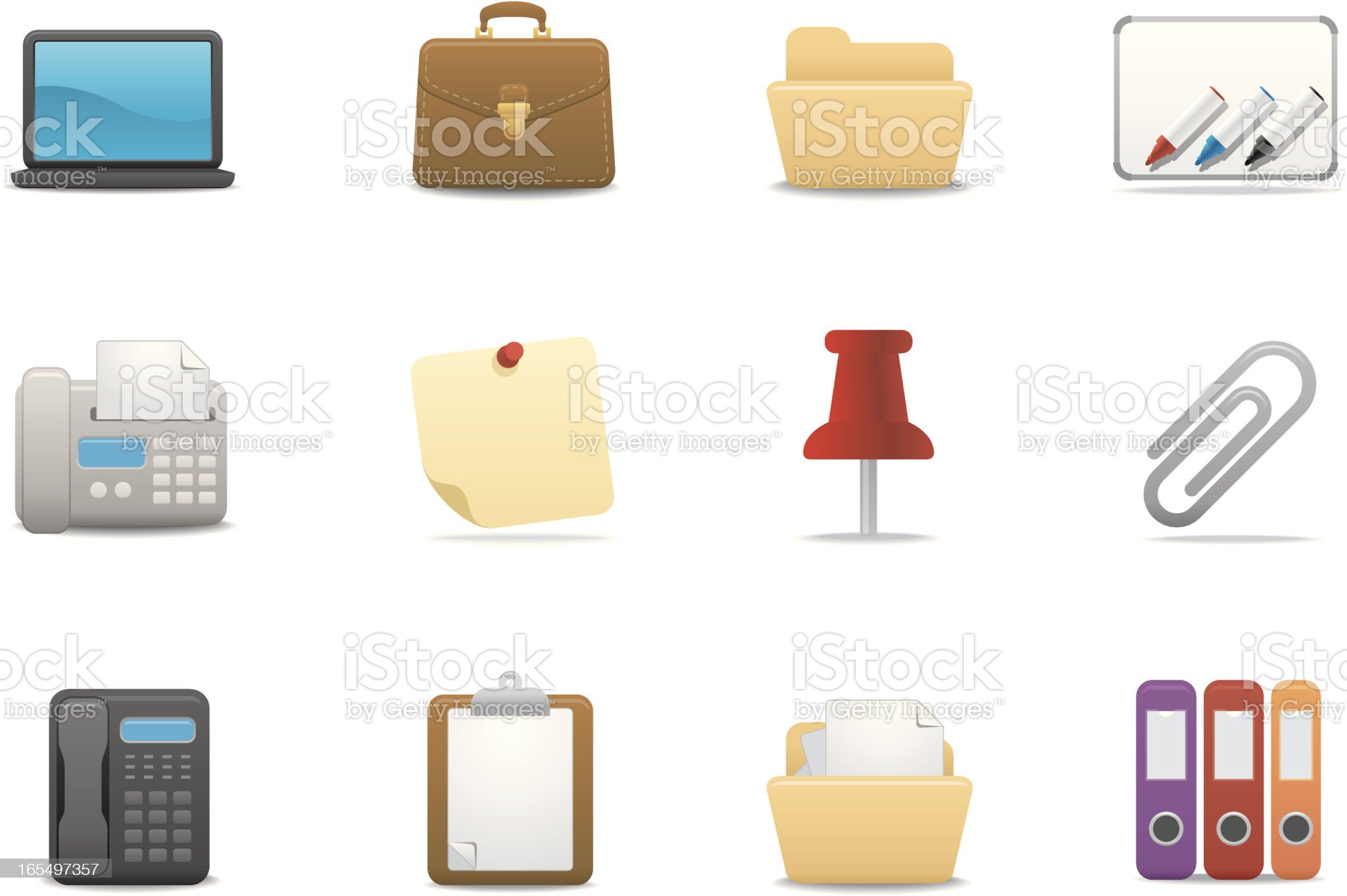 Office & Business icons 02 | Premium Matte series royalty-free stock vector art