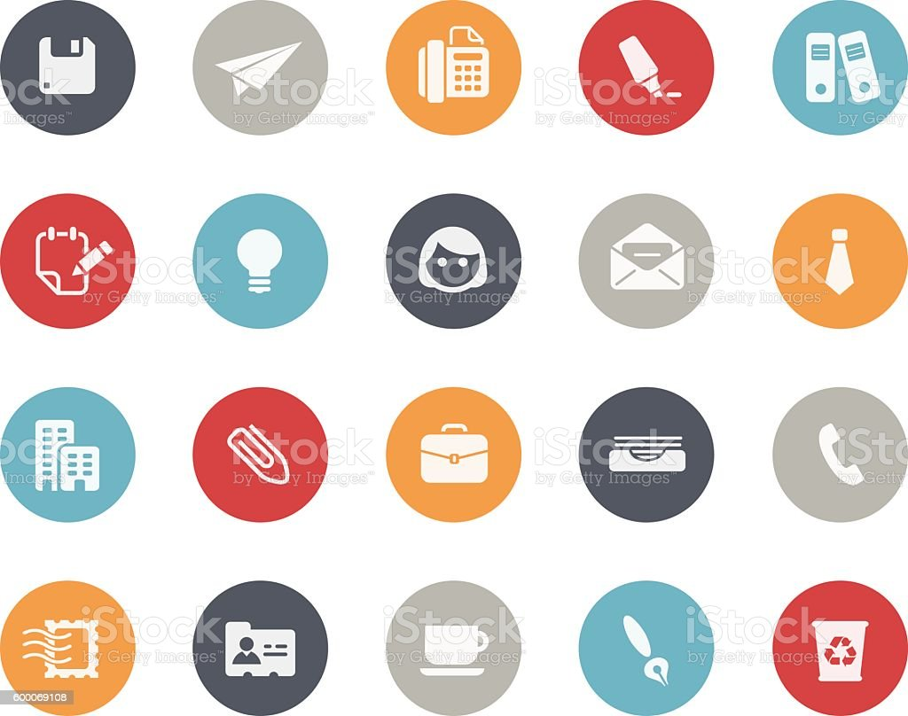 Office & Business Icons // Classics vector art illustration