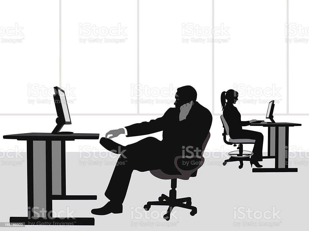 Office Cellphone Vector Silhouette royalty-free stock vector art