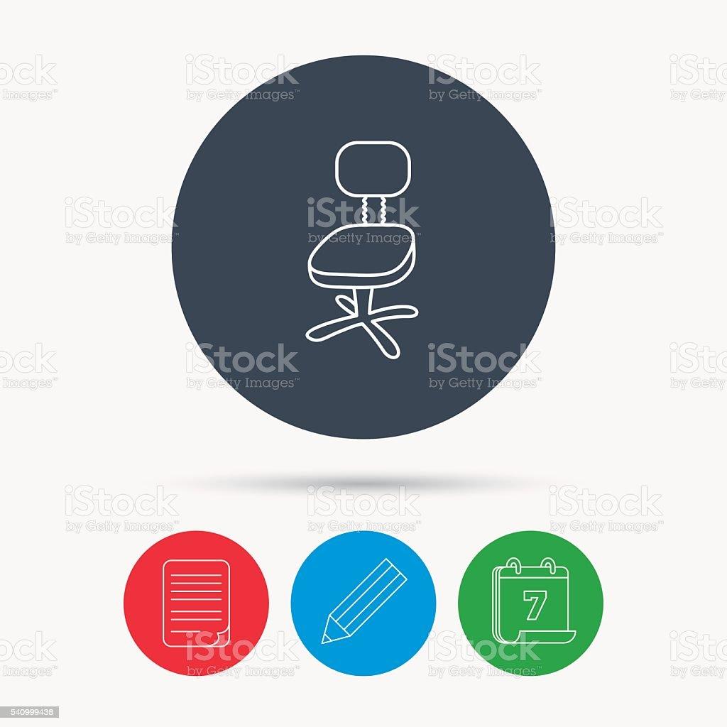 Sessel zeichnung bleistift  Bürostuhlsymbol Businesssessel Unterschreiben Vektor Illustration ...