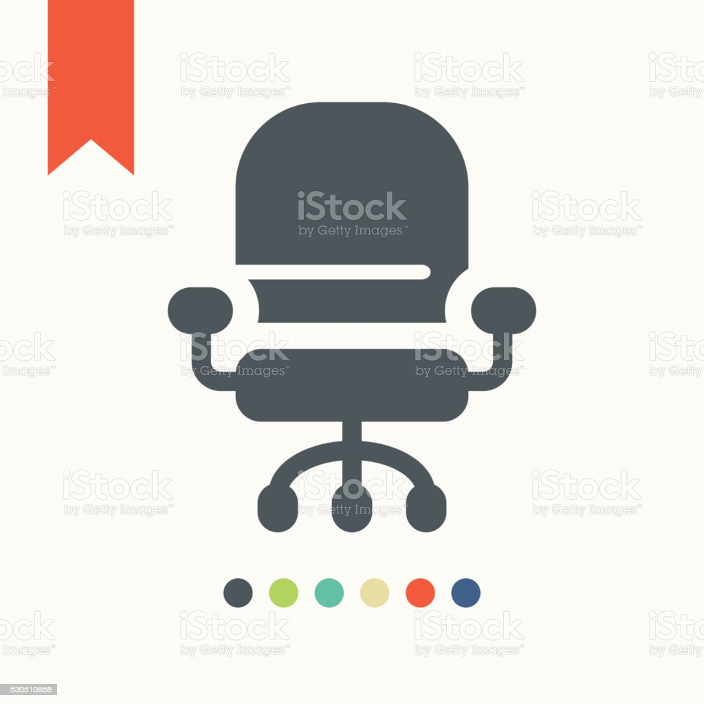 Office Chair icon vector art illustration