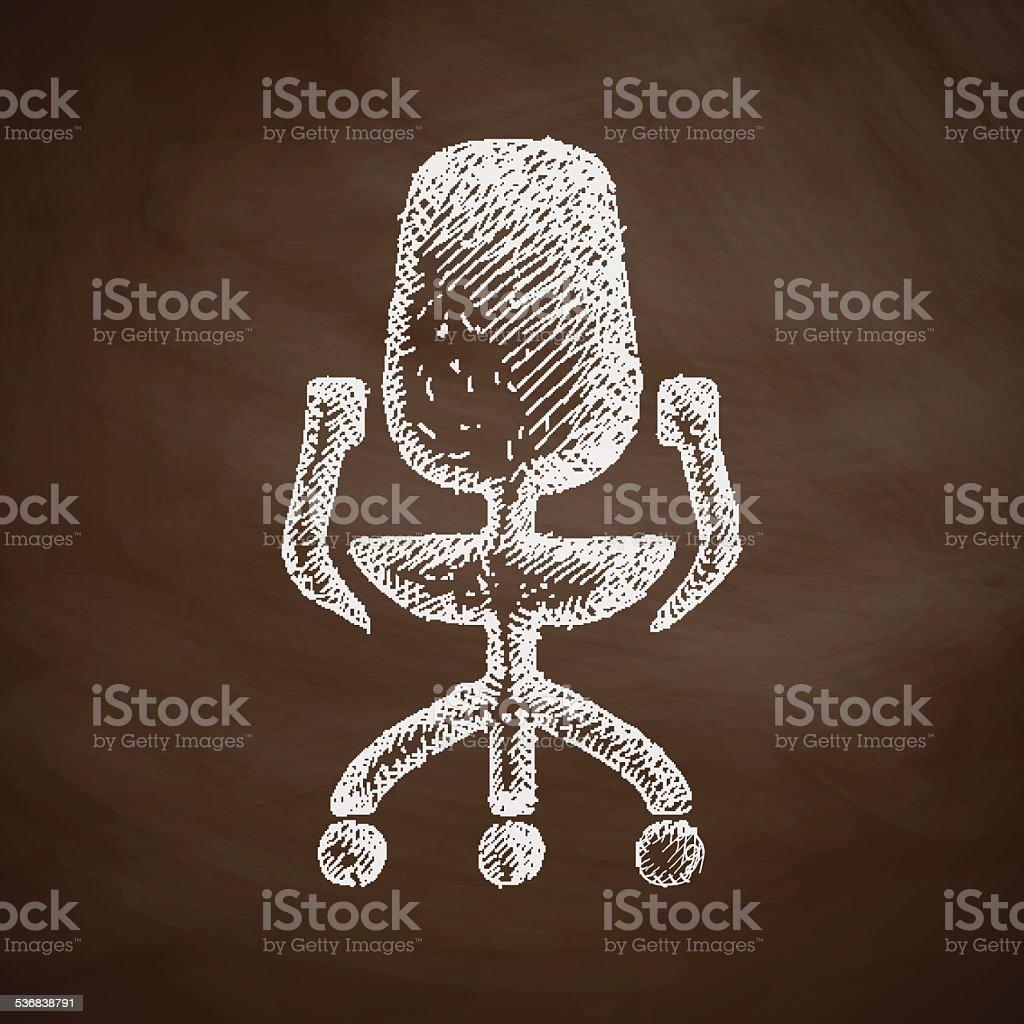 office chair icon vector art illustration