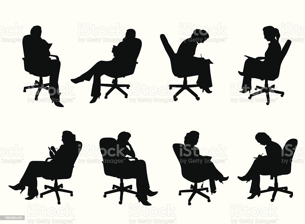 Office Chair Vector Silhouette royalty-free stock vector art