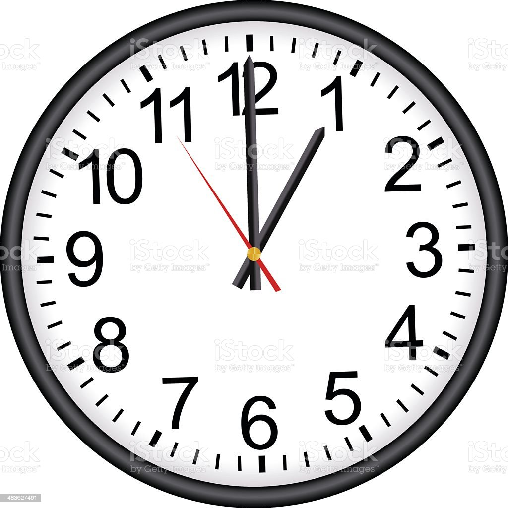 Office Clock royalty-free stock vector art
