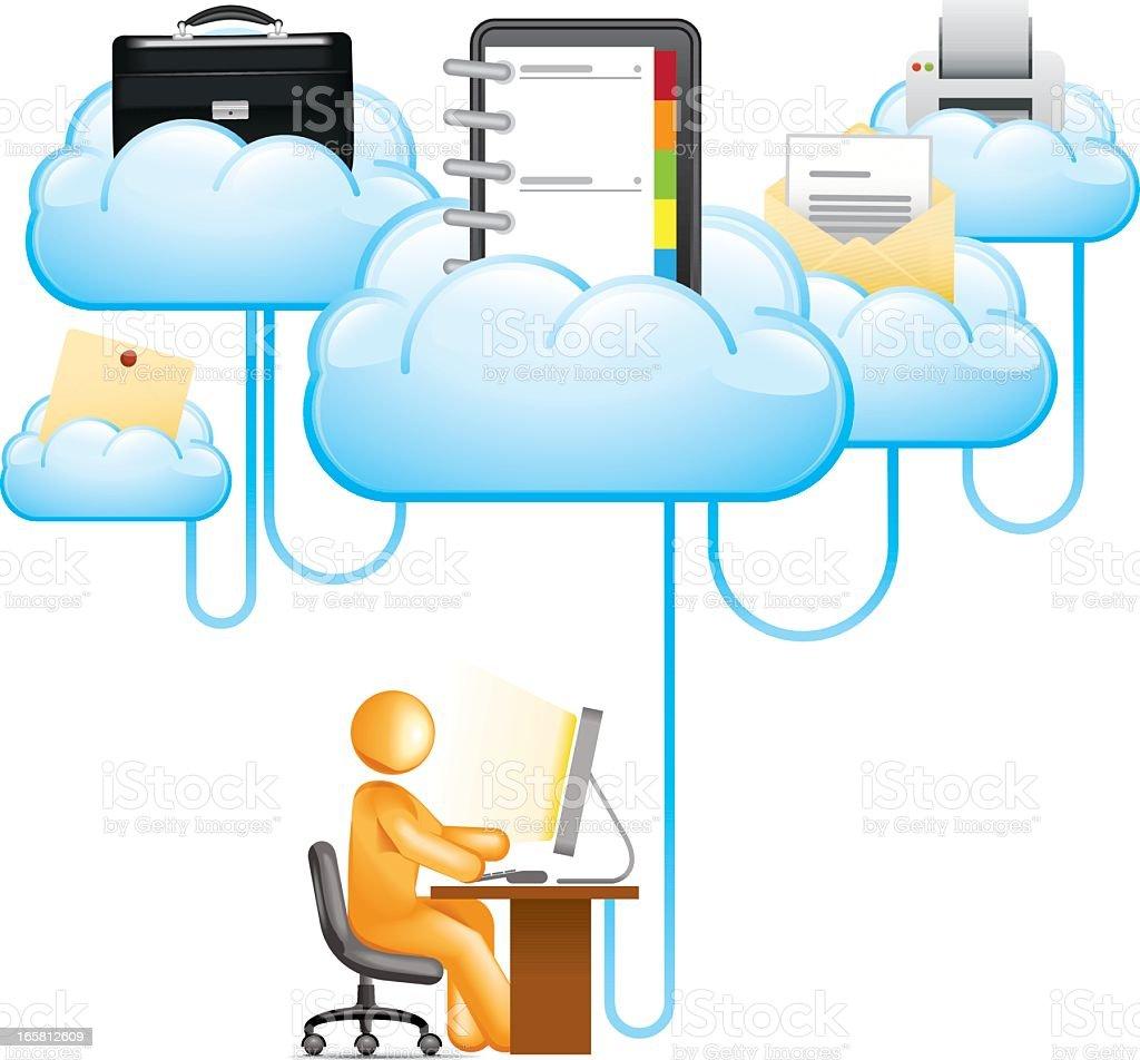 Office Cloud vector art illustration