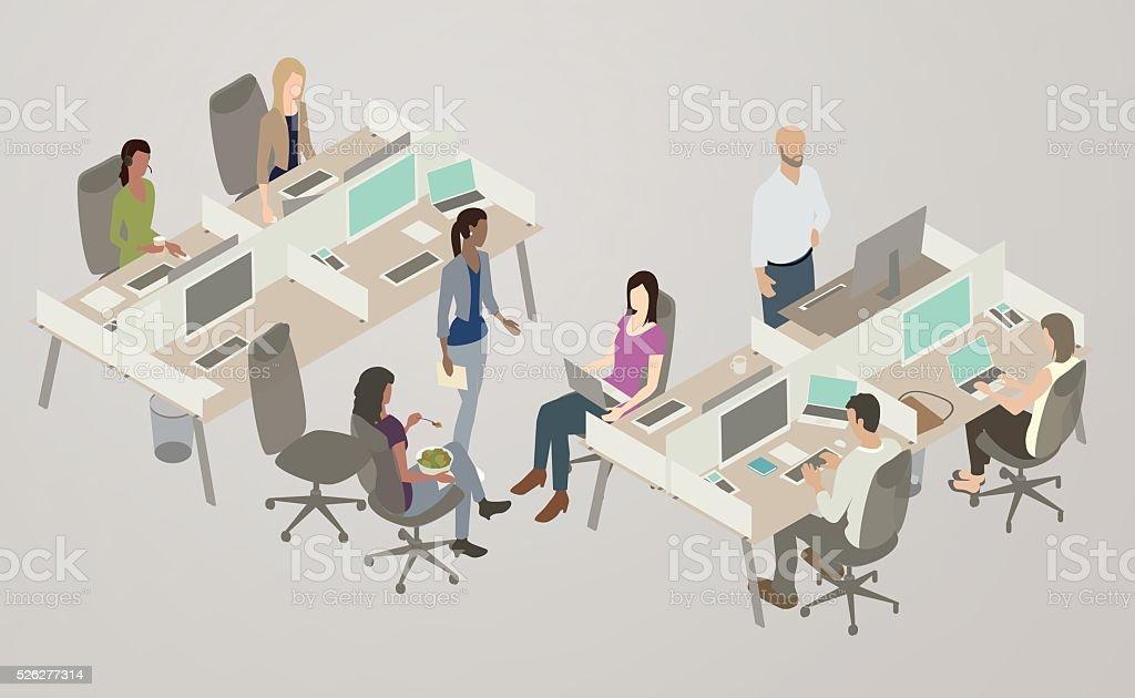 Office Collaboration Illustration vector art illustration