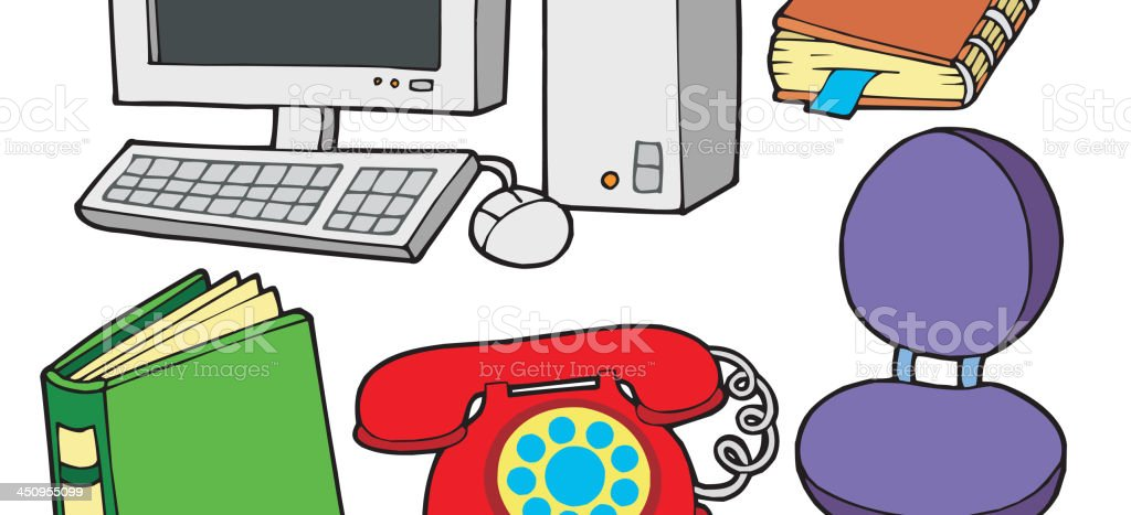 Office collection royalty-free stock vector art