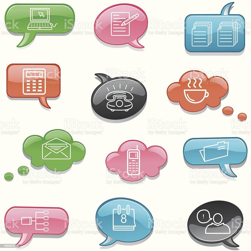 Office Communication royalty-free stock vector art
