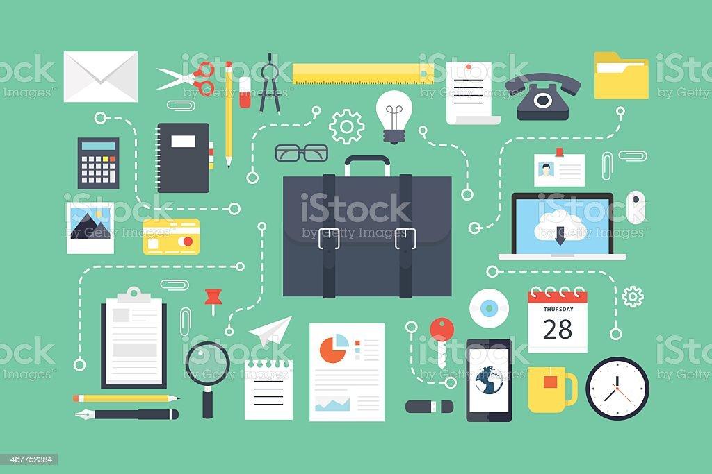 Office concept. vector art illustration