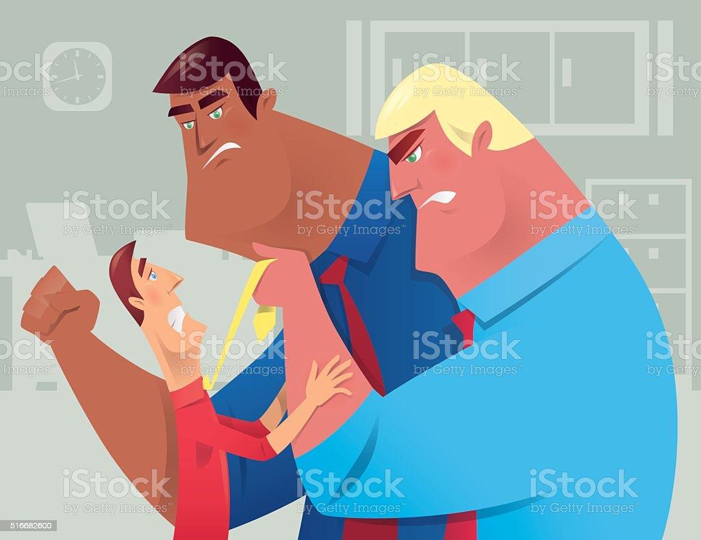 office conflict vector art illustration