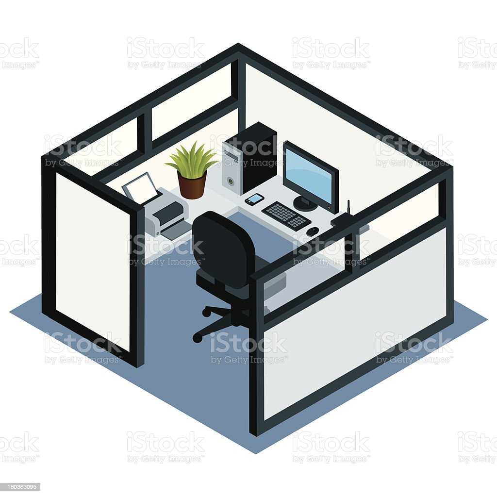 Office Cubicle vector art illustration
