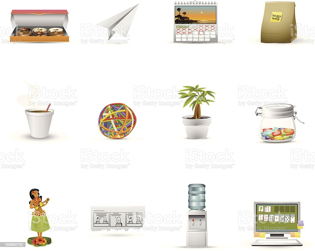 Office Culture Icon royalty-free stock vector art