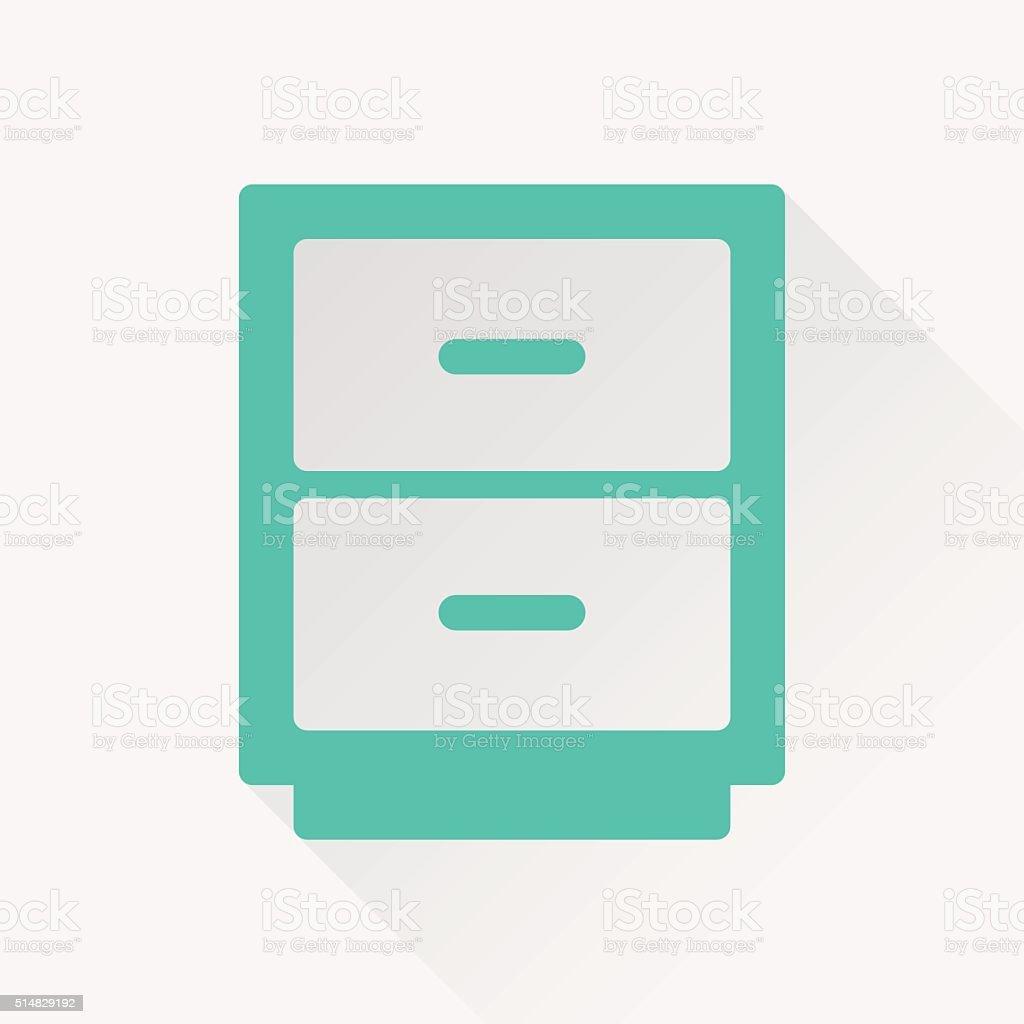 office drawer vector icon vector art illustration