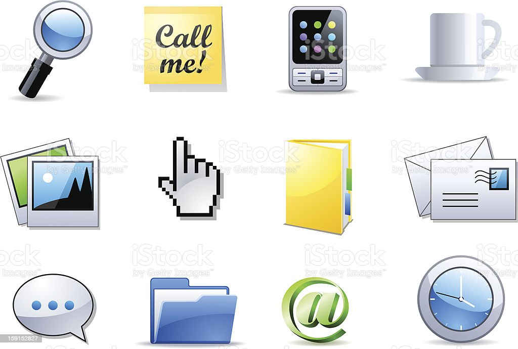 Office end business icons stock photo
