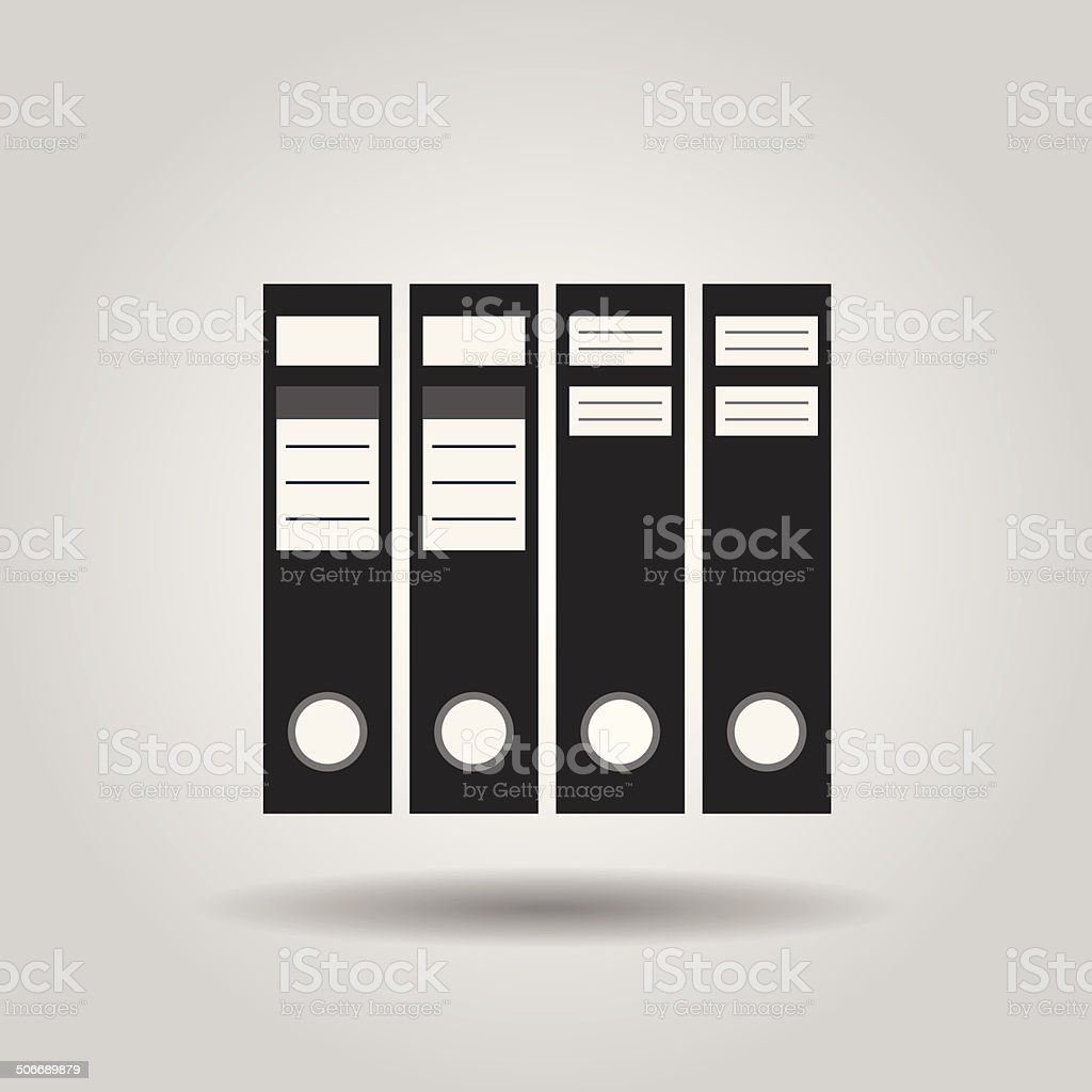 Office file folders icon vector art illustration