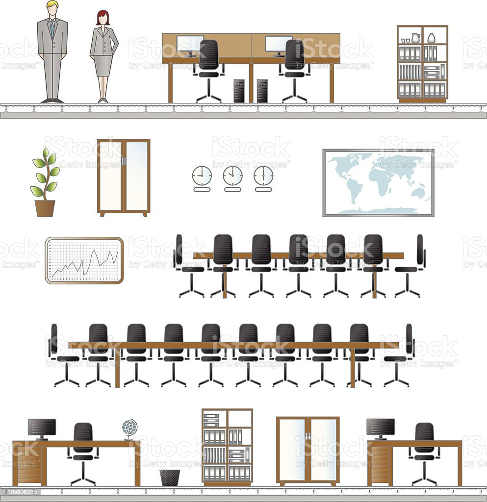 office furniture icons stock vector art 165808295 istock office furniture icons royalty free stock vector art