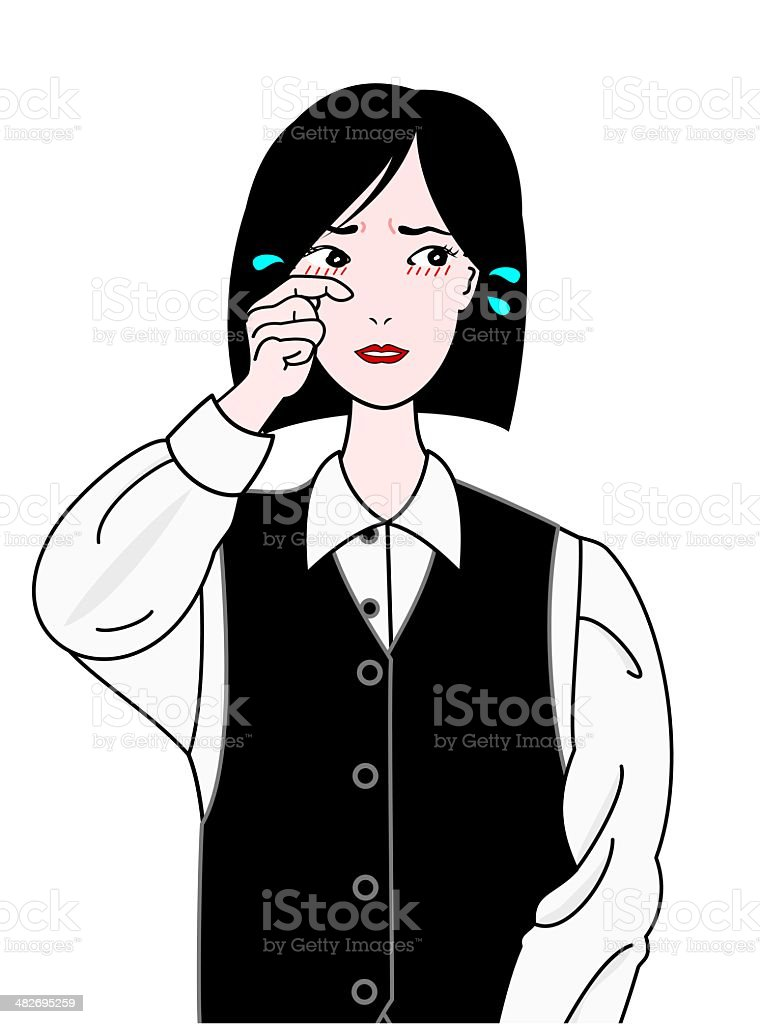 office girl suffering from hay fever royalty-free stock vector art