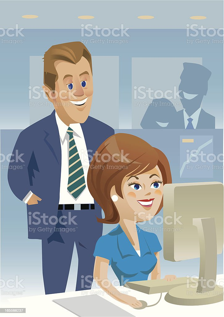 Office Girl royalty-free stock vector art