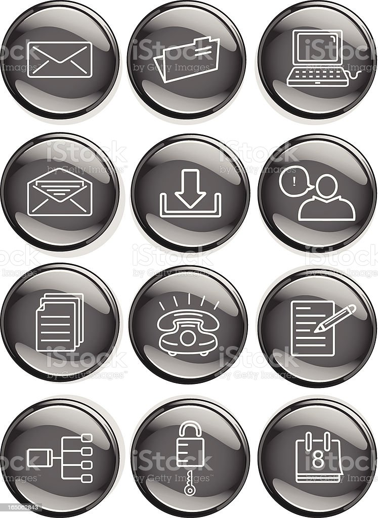 Office Icon Badges royalty-free stock vector art
