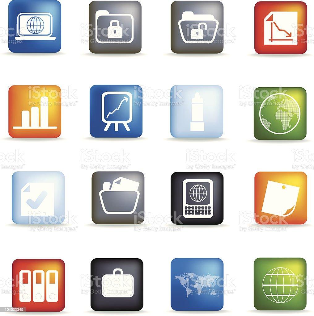 Office Schaltfläche icon set Lizenzfreies vektor illustration