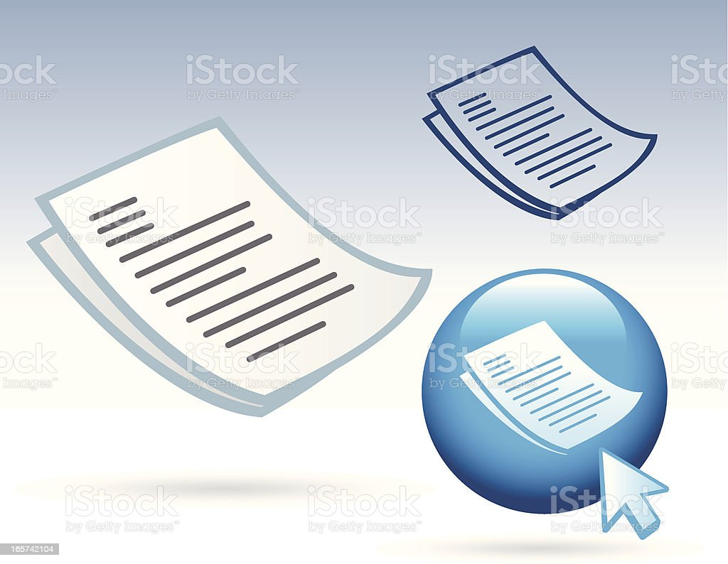 Office Icon - PaperWord Document royalty-free stock vector art