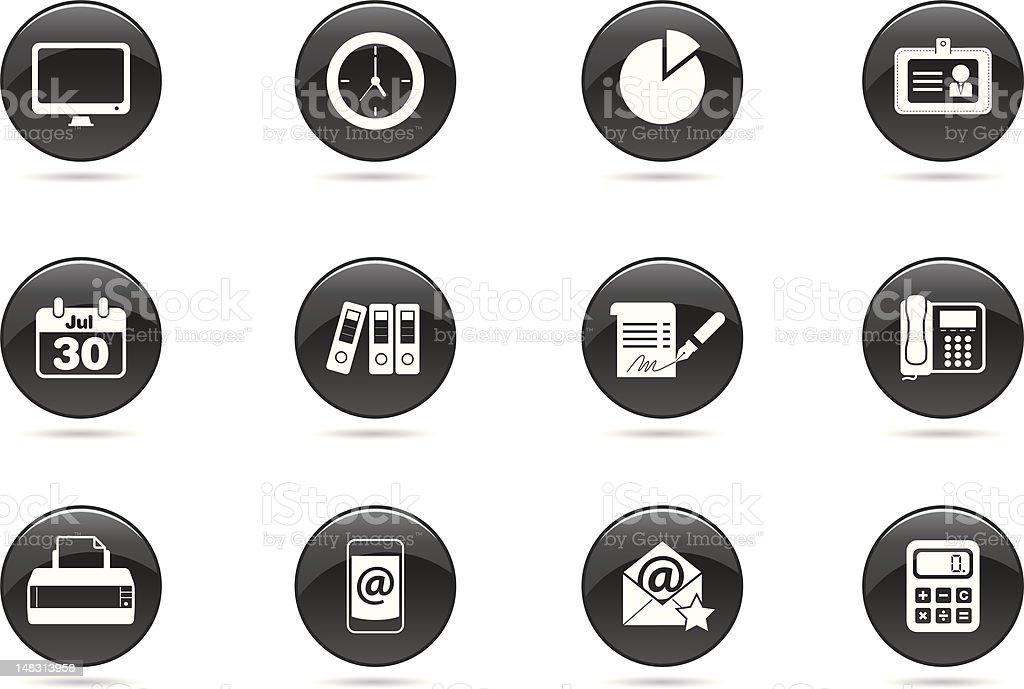 Office Icon - Reflection vector art illustration