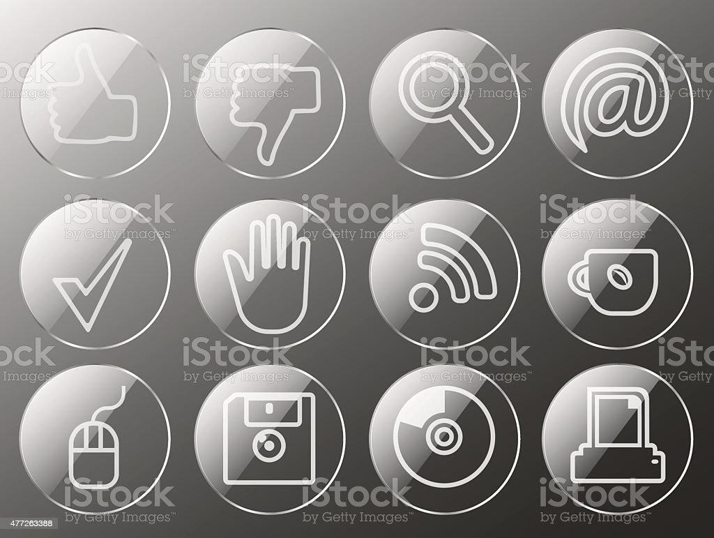 Office icon set. 10 eps vector art illustration