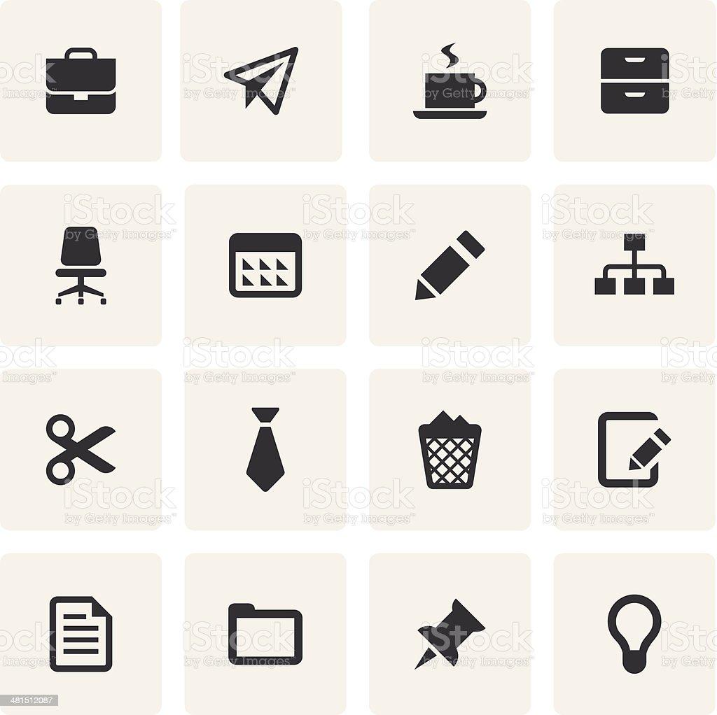 Office Icon Set (Saro Series) vector art illustration