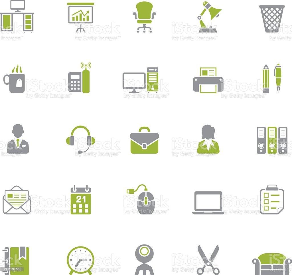 Office icon set vector art illustration