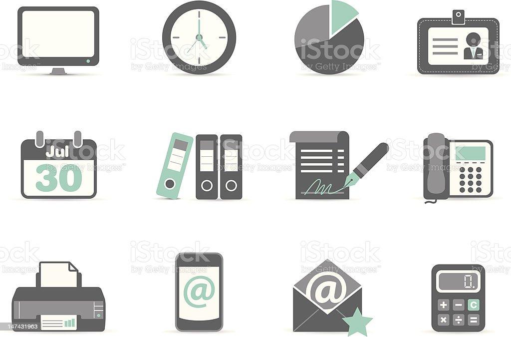Office Icon vector art illustration