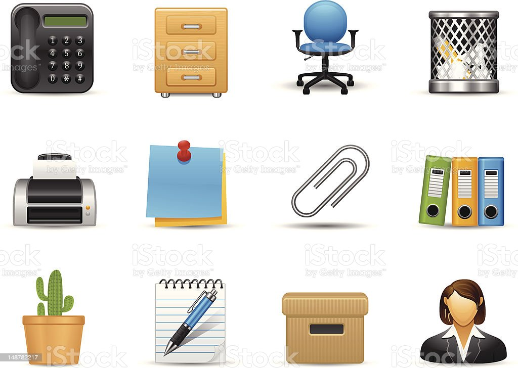 Office Icon royalty-free stock vector art