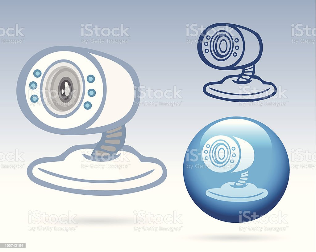 Office Icon - Web Cam royalty-free stock vector art