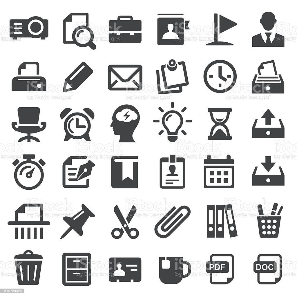Office Icons - Big Series vector art illustration
