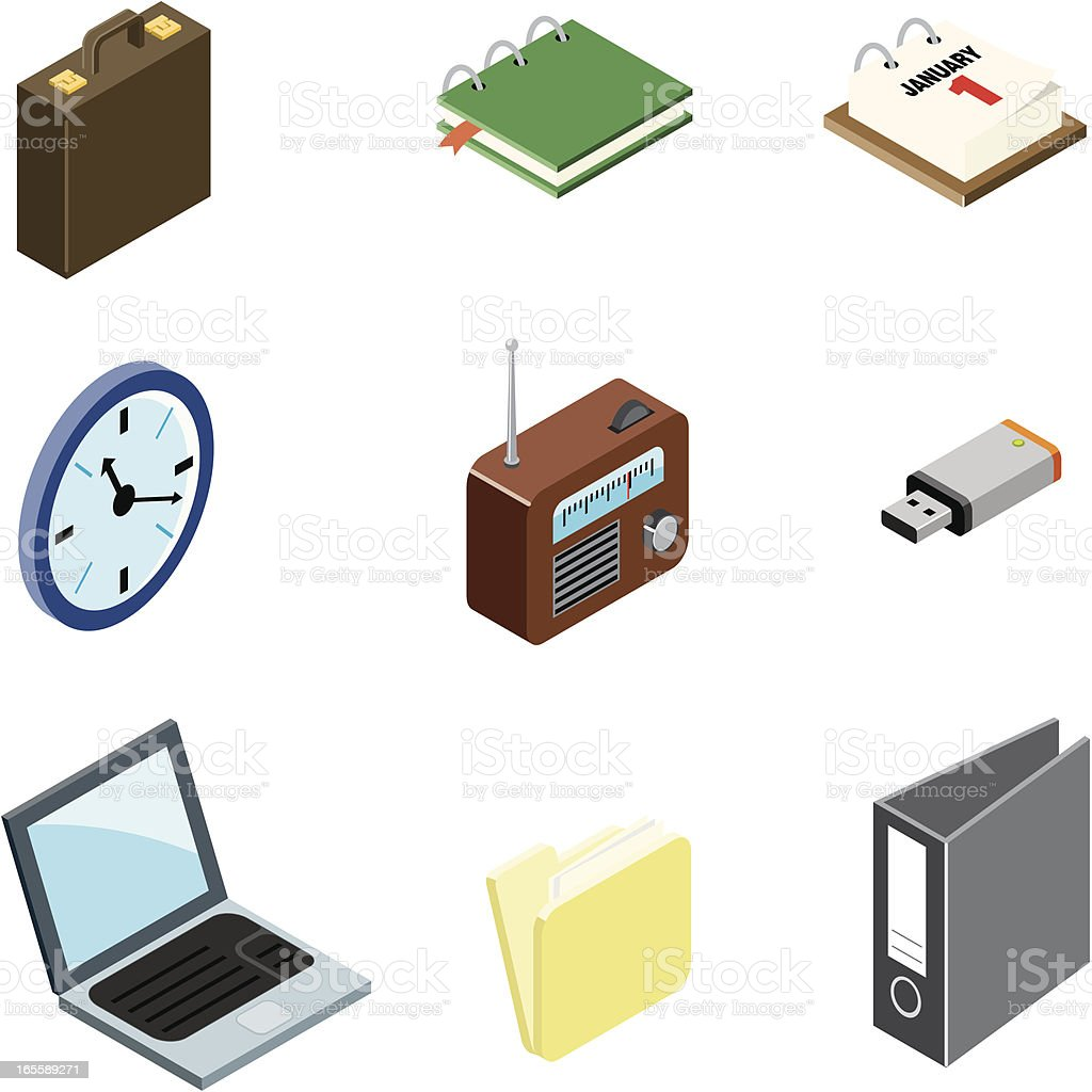 Office  icons | ISO collection royalty-free stock vector art