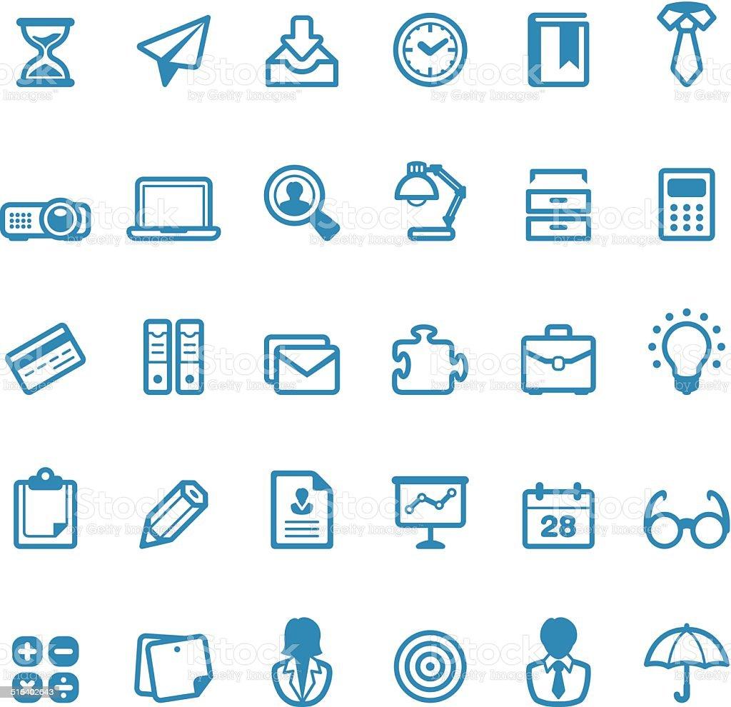 Office icons / Linico series vector art illustration