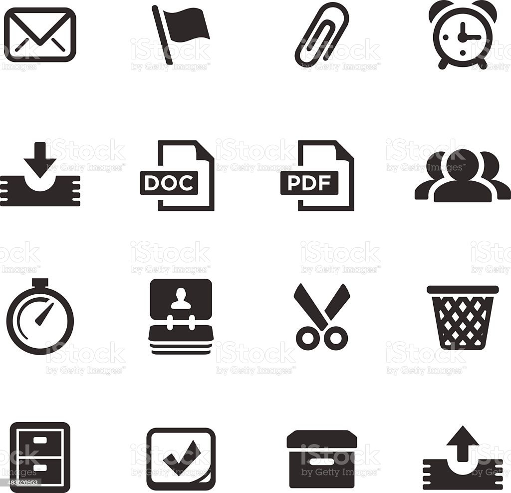 Office Icons | Mono Series royalty-free stock vector art