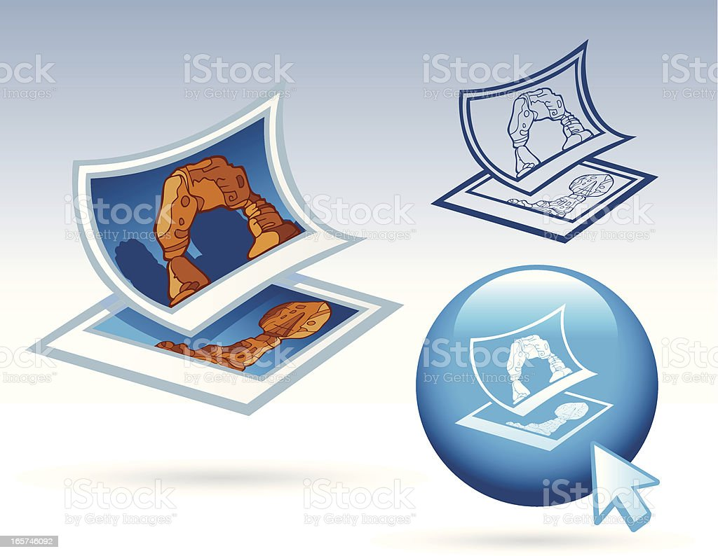 Office Icons - Pictures royalty-free stock vector art