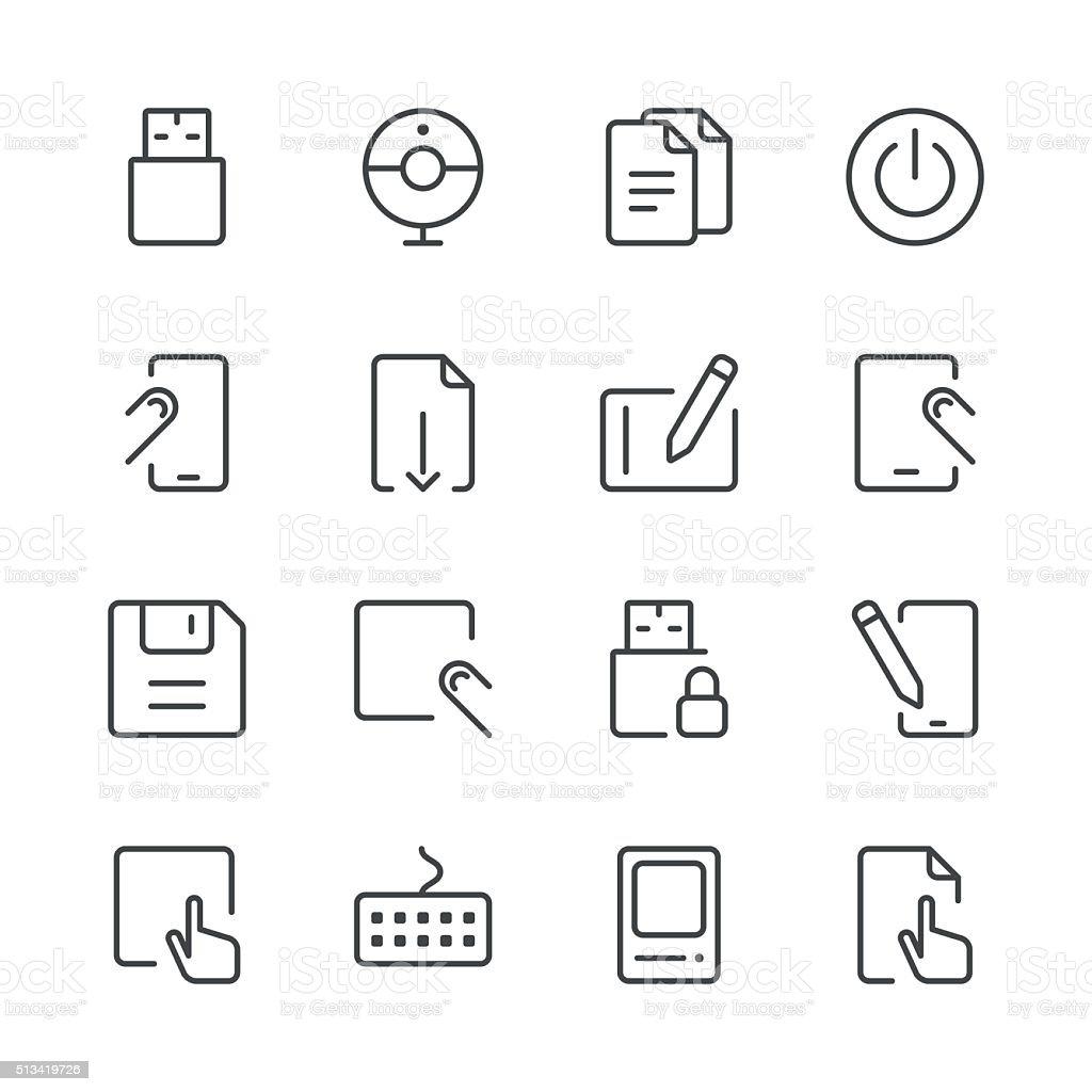 Office Icons set 1 | Black Line series vector art illustration