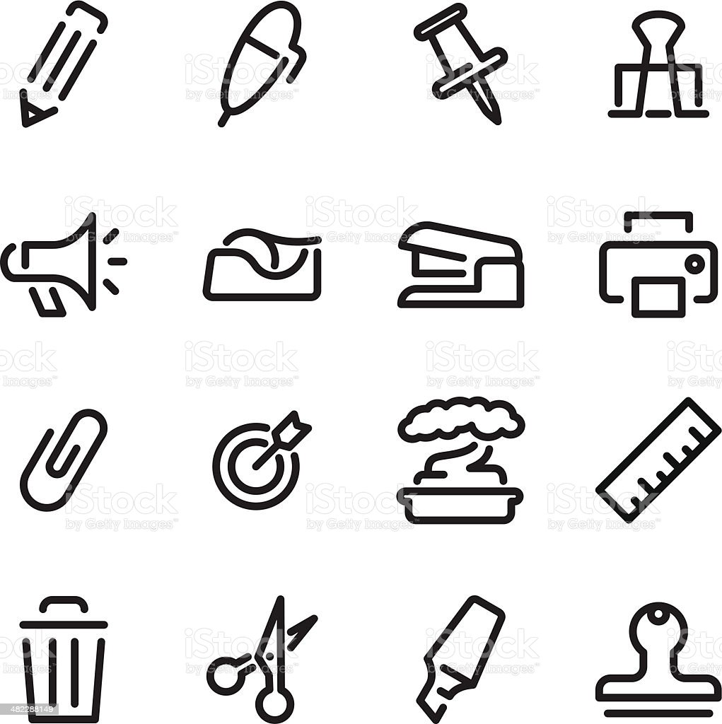 Office Icons | Set 2 royalty-free stock vector art