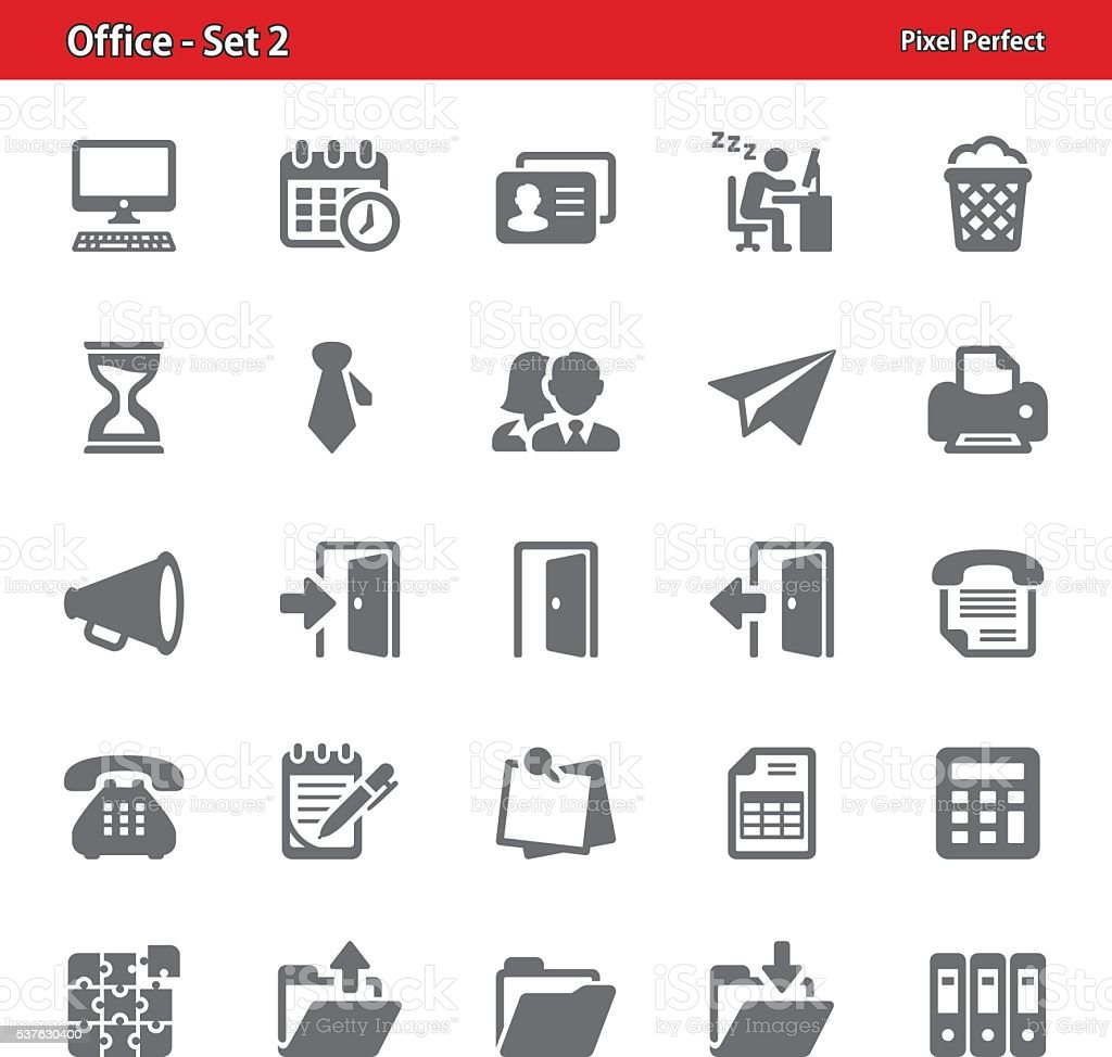 Office Icons - Set 2 vector art illustration