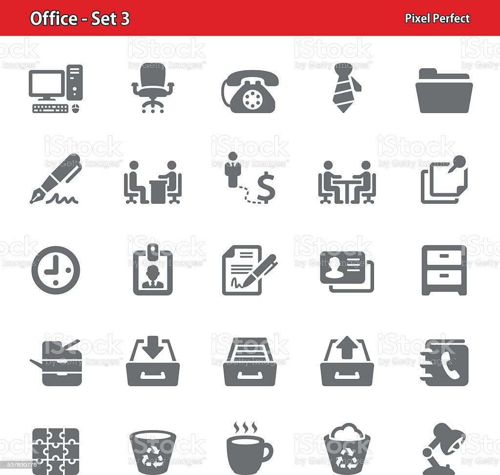 Office Icons - Set 3 vector art illustration